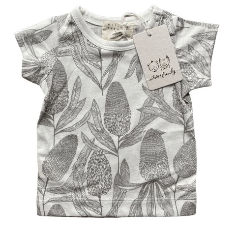 Toddles Sustainable Second Hand Baby Clothes Unisex bottlebrush tee with brand Wilson & Frenchy