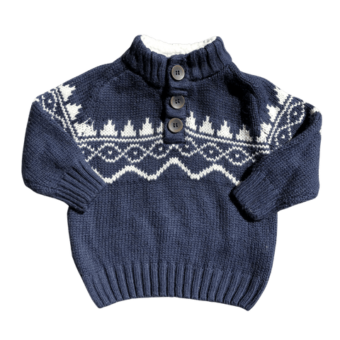 Toddles Sustainable Second Hand Baby Clothes Unisex wooly sweater with brand Pumpkin Patch