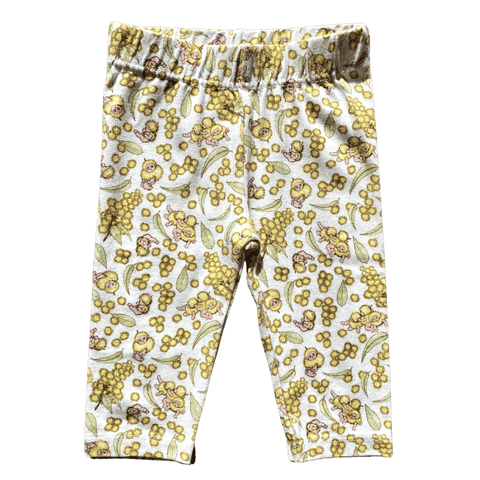 Toddles Sustainable Second Hand Baby Clothes Baby girls walnut leggings with brand May Gibbs