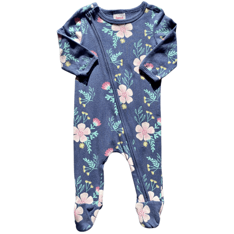 Toddles Sustainable Second Hand Baby Clothes Baby girls sprout flower bodysuit