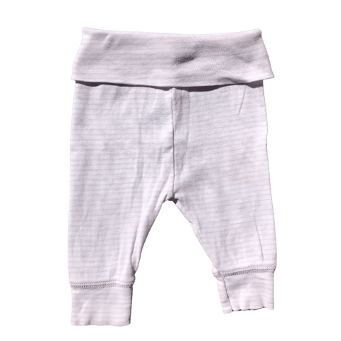 Toddles Sustainable Second Hand Baby Clothes Baby girls stripe pants with brand CottonOn