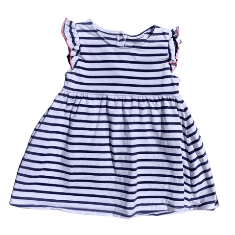 Toddles Sustainable Second Hand Baby Clothes Baby girls sailor stripe dress with brand Next Baby