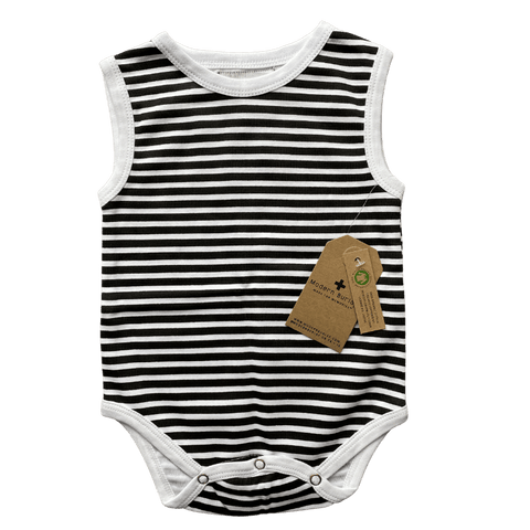Toddles Sustainable Second Hand Baby Clothes Unisex modern burlap tank bodysuit