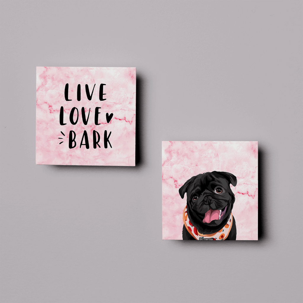 LIVE LOVE BARK (Printed Canvas)