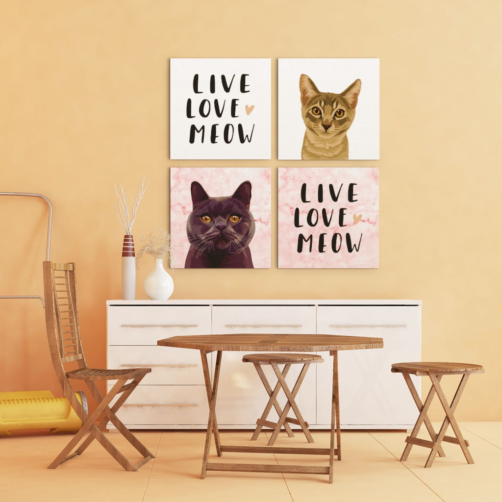 LIVE LOVE MEOW (Printed Canvas)