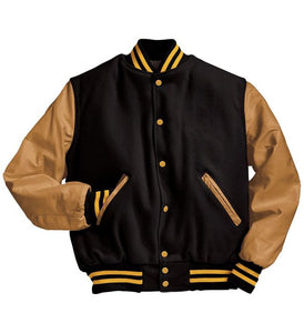 Holloway Lettermans Jacket with Leather Sleeves