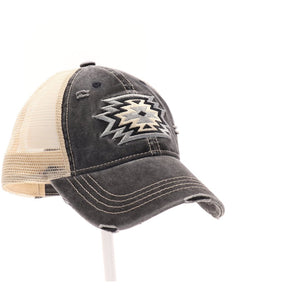 Aztec Patch Mesh High Pony CC Cap