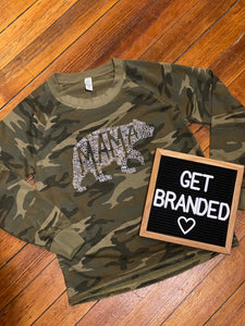 Camo Mama Bear Lazy Day Sweatshirt