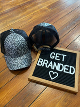 Load image into Gallery viewer, CC Beanie Leopard Glitter High Pony Cap