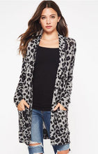 Load image into Gallery viewer, Leopard Long Cardigan