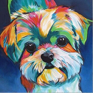Yorkie Colors Diamond Painting Kit - DIY