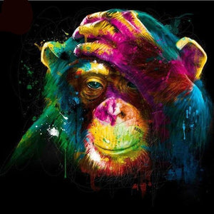 Chimp Full Colors Diamond Painting Kit - DIY