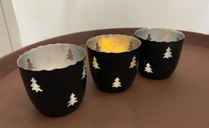 Christmas Tree tea light holders