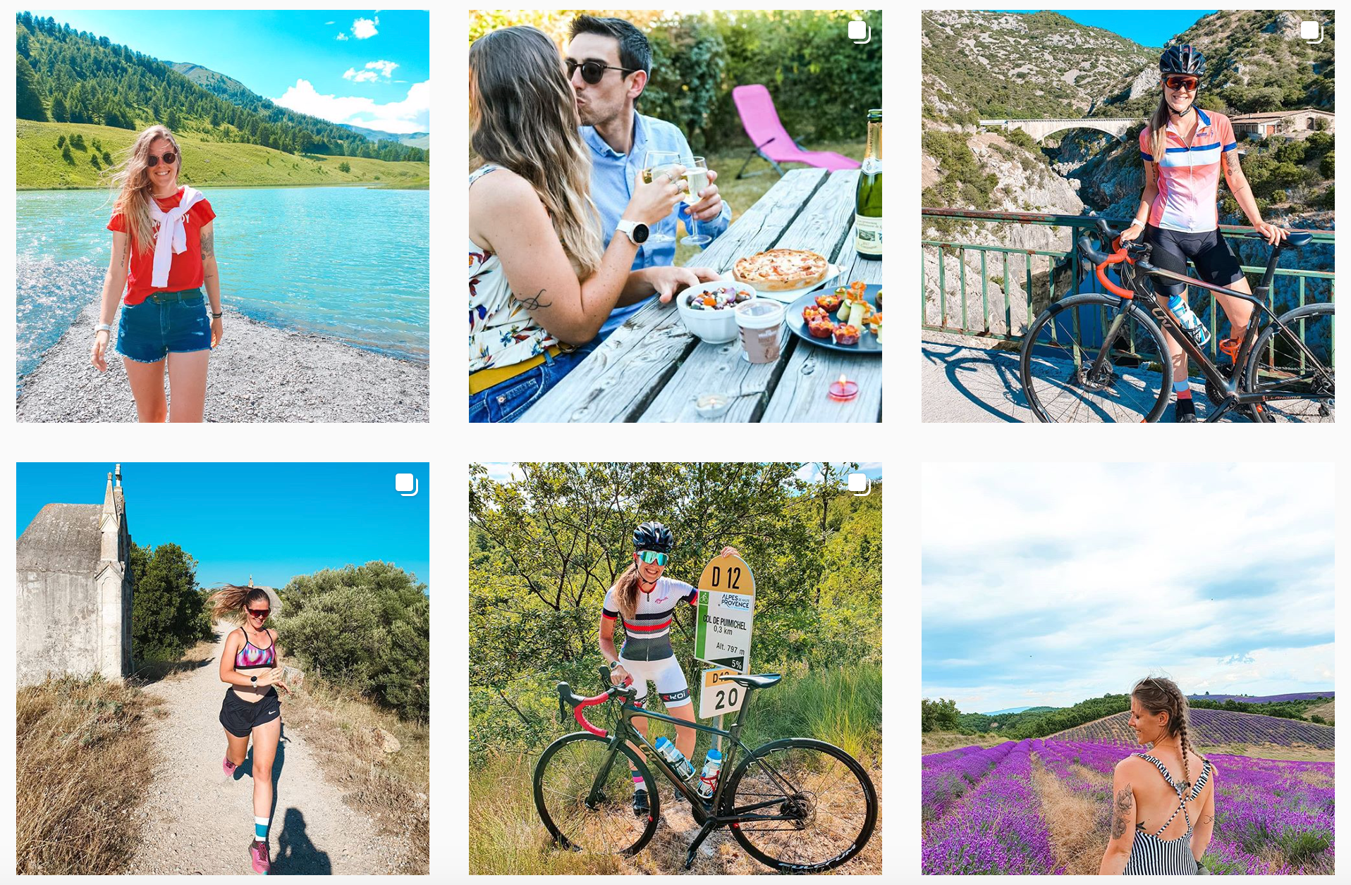 woman cycling instagram account