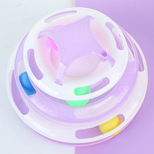 Interactive entertainment toy with four layers cat wheel