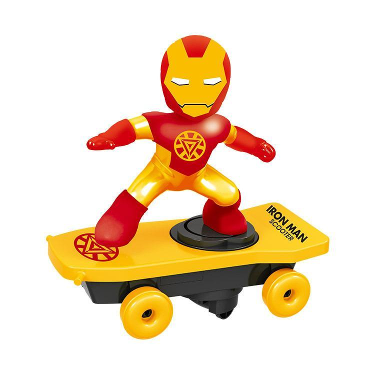 Christmas Promotion 50% OFF--Spiderman/Iron man Scooter Electric Car Music led Light Toys