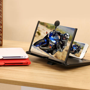 "12"" Foldable Smart Phone Screen Amplifier Projector Mobile phone stand"
