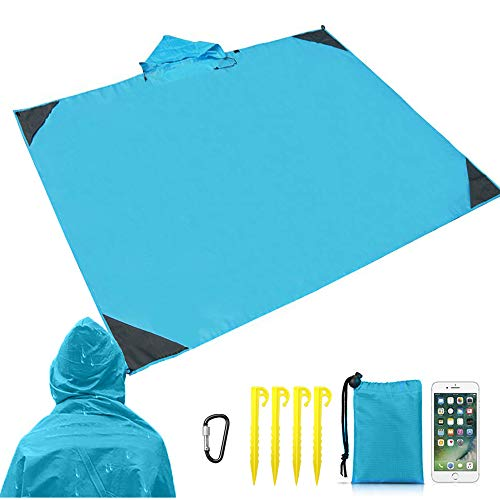 2 in 1 Raincoat Picnic Beach Moisture-proof Cloth