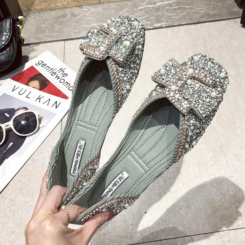 Crystals Pearl Butterfly-knot Women Flats