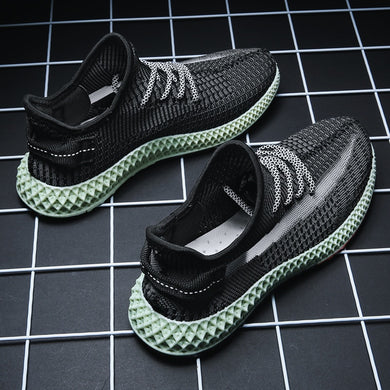 Pollination Artwork New Summer Flywire Weaving 3D Printing Jogging Shoes For Unisex Kids