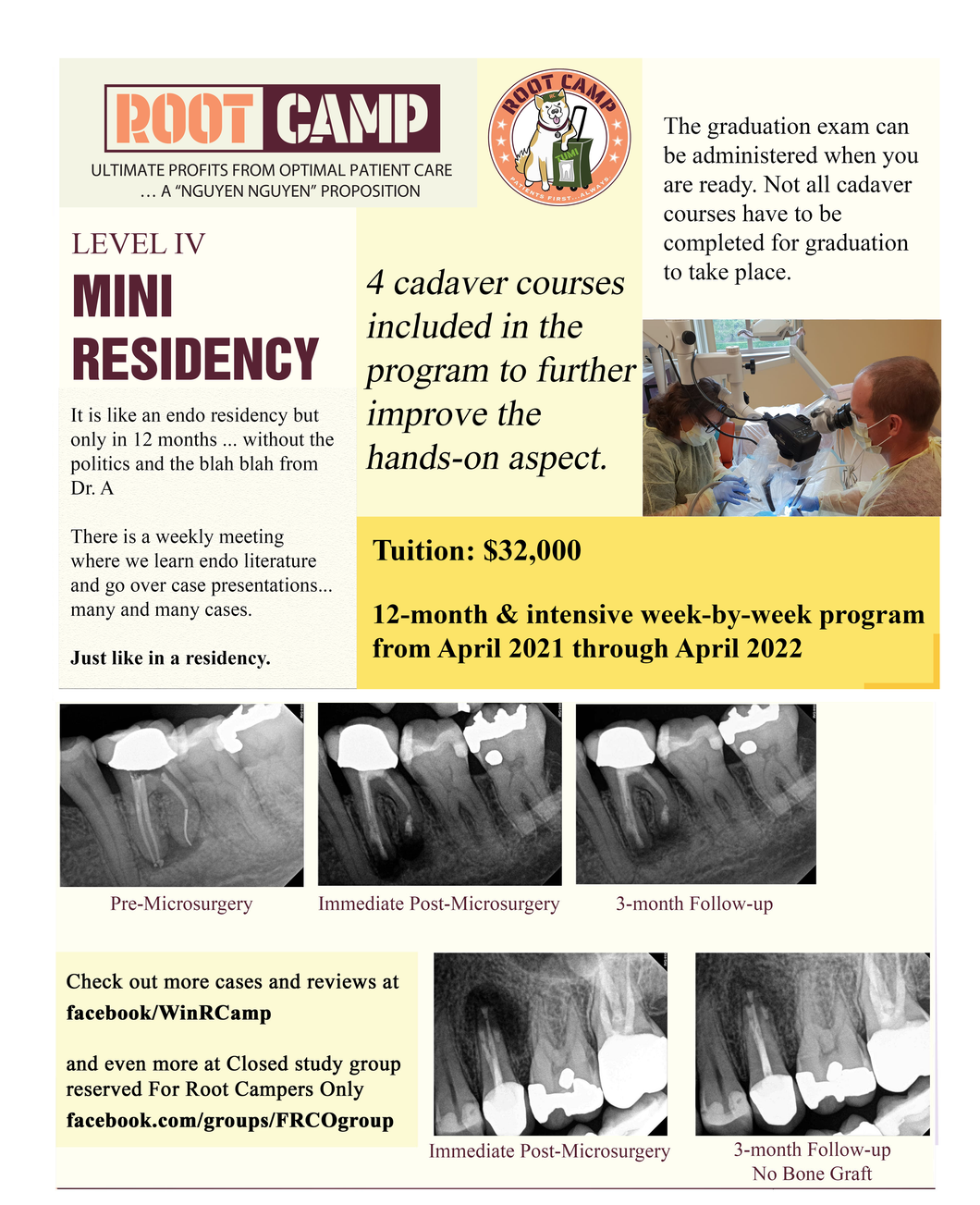 April 2021 through April 2022 - Endo mini-residency program