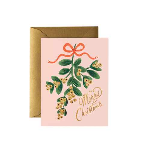 Mistletoe Christmas Card Box