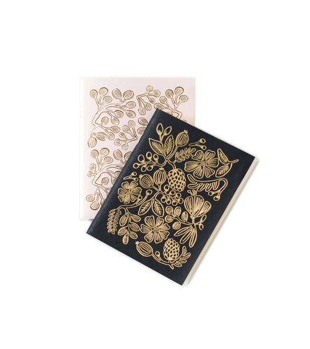 Gold Foil Pocket Notebooks - Set of 2