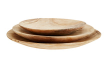 Load image into Gallery viewer, Round Wooden Plates (Set of 3)