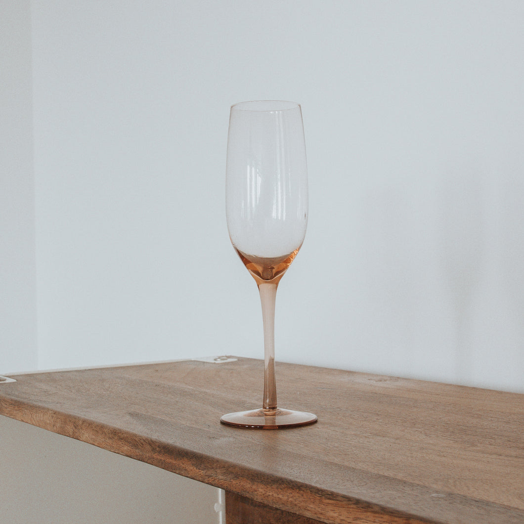 Rose Champagne Glass