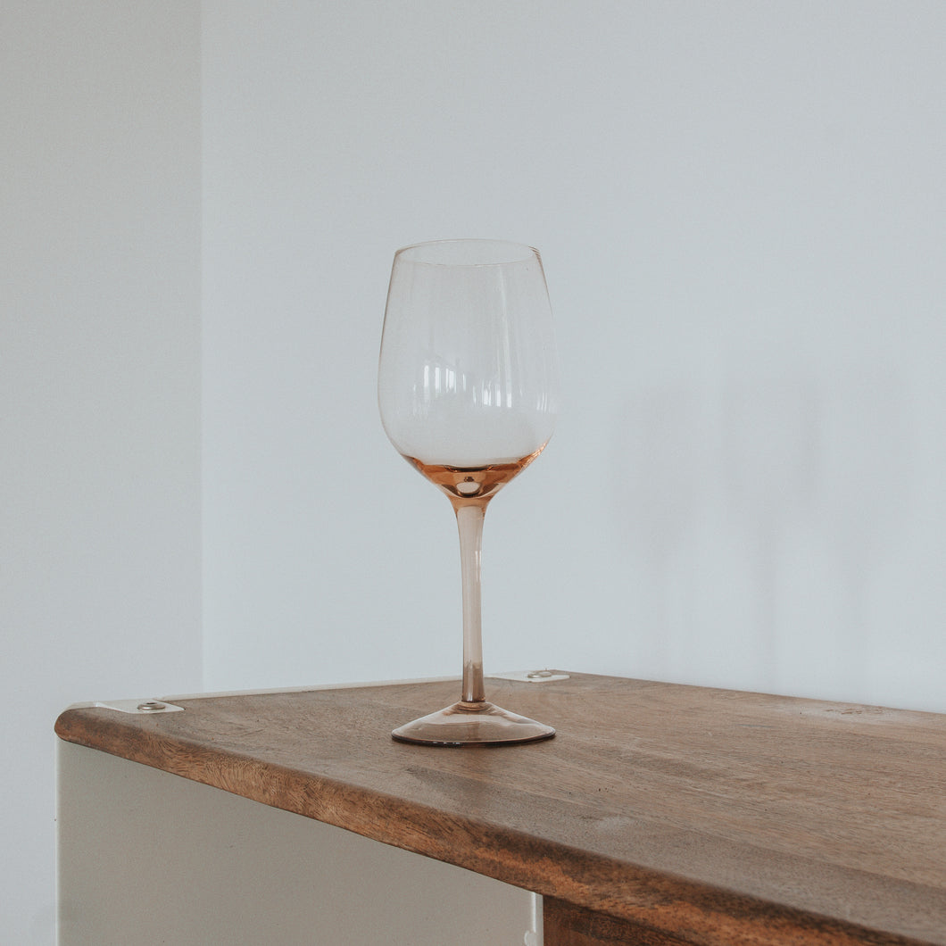 Rose Wine Glass