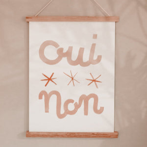 Oui Non French Print