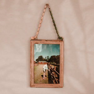 Hanging Photo Frame with Brass Border