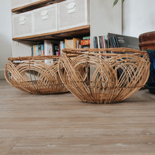 Load image into Gallery viewer, Round Rattan Baskets (Set of 2)