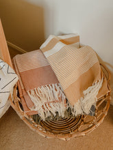 Load image into Gallery viewer, Striped Cotton Towel - Rust
