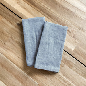 Grey Cotton Napkins - Set of 2
