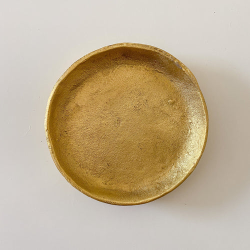 Brushed Gold Decorative Plate - Small