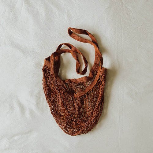 Sass & Belle Burnt Orange String Shopper Bag