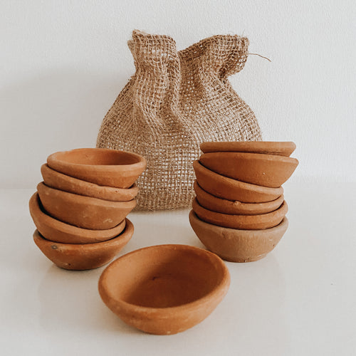 Terracotta Pinch Pots (Set of 12)