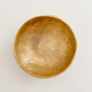 Brushed Gold Bowl - Large