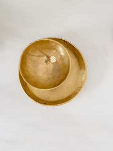 Brushed Gold Decorative Plate