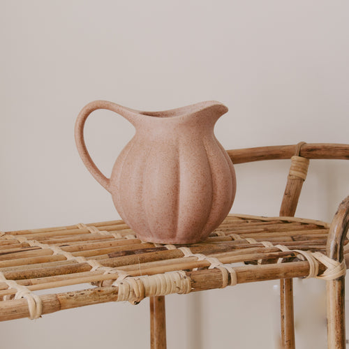 Dusty Rose Stoneware Jug