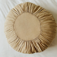 Load image into Gallery viewer, Large Round Stonewash Linen Cushion