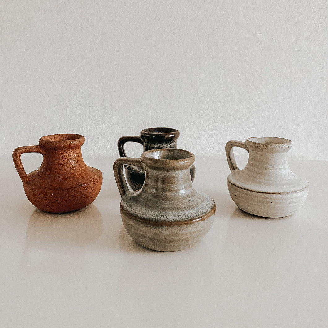 Small Stoneware Vases - Set of 4