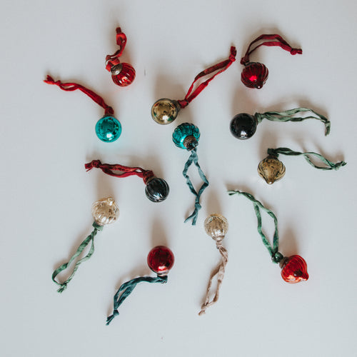 Antique Mixed Baubles (Set of 12)