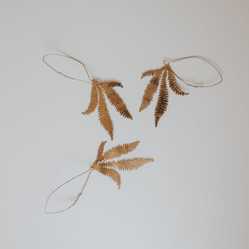 Fern Sprig Decoration (Set of 3)