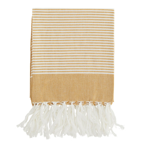 Striped Cotton Towel - Honey