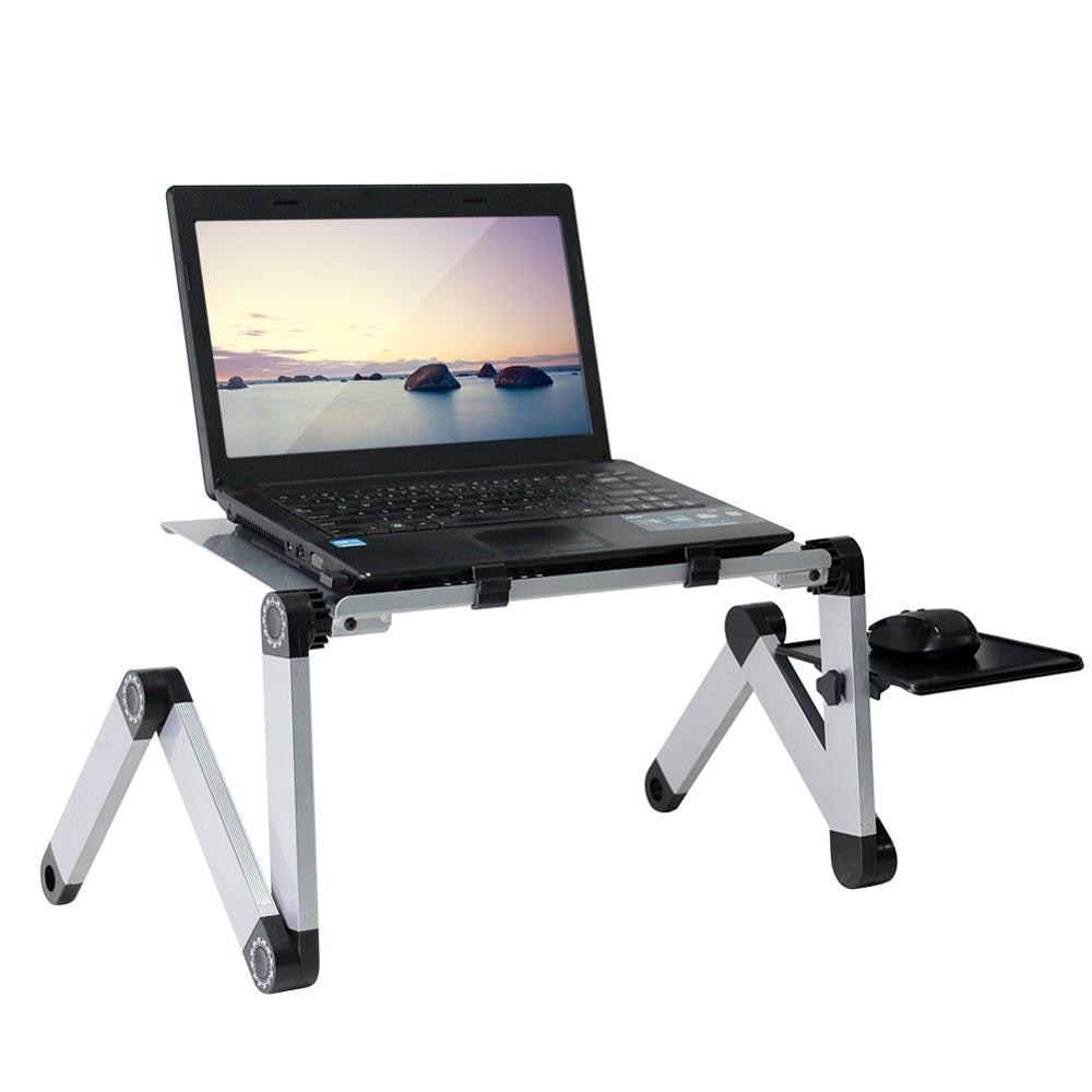 Adjustable Ergonomic Portable Aluminum Laptop Desk - Berry Scotch