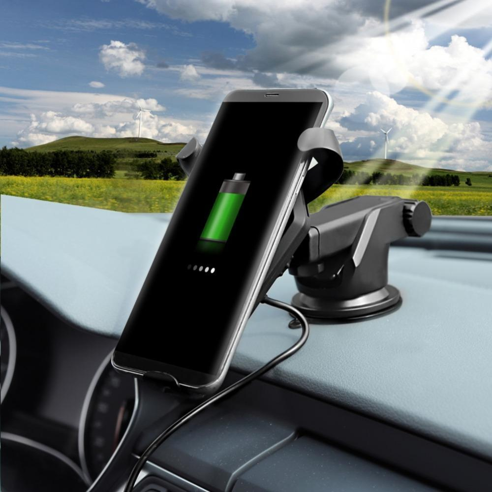 Charging Pad Car Holder With Wireless Charger For Smartphone - Berry Scotch