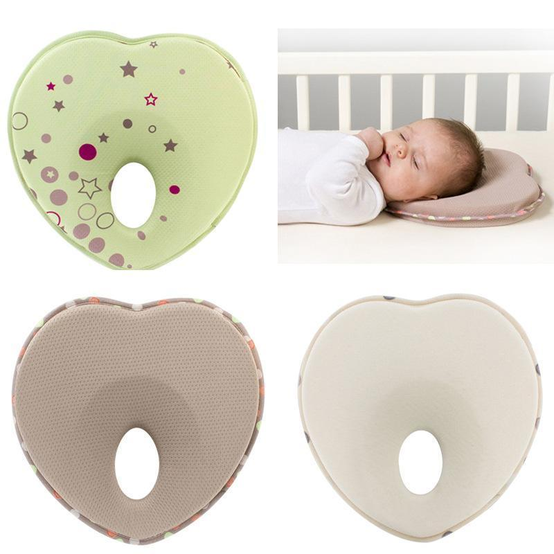 Anti Flat Head Baby Pillow - Berry Scotch