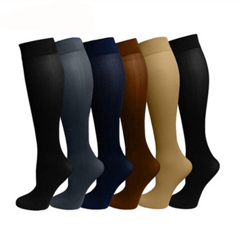 Anti-Fatigue Compression Socks (15-20mmHg) - Berry Scotch